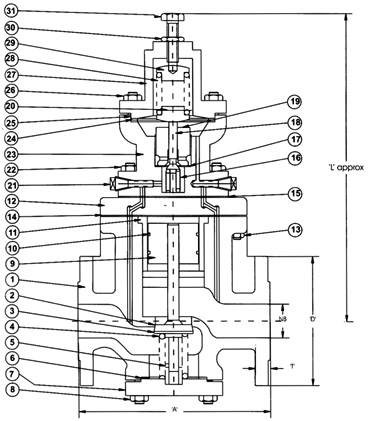 pressure reducing valve dimanstions